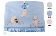 High Quality Hand Embroidered Wool Baby Blanket