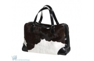 Cow Hide Leather Overnight Bag