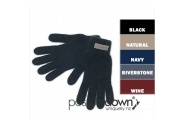 Wool Gloves with Leather Patch - Possumdown