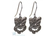 Pewter Earrings - Tiki