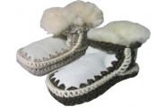 Knitted Child Boots - Childrens Kiwi feet - traditional