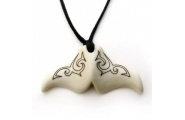 whale tail bone carving pendant