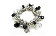 Black and silver charm bracelet by Hint of New Zealand