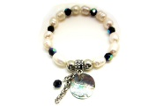 Paua and Pearl Circle Bracelet By Hint of New Zealand