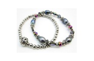 Paua Bead Double Bracelet By Hint of New Zealand