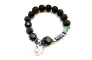 Lava and Paua Bracelet By Hint of New Zealand