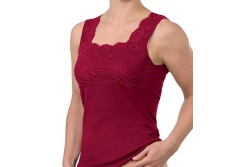 Womens Merino Wool Lace Camisole Top