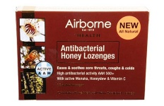 Airborne Antibacterial Honey Throat Lozenges 16s