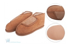Medical Sheepskin - adjustable Vinny Slipper - Classic Sheepskin