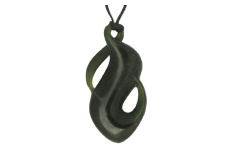 Twist Pendant - Greenstone - Single - B78