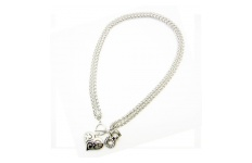 Double Chain Koru Heart Necklace By Hint of New Zealand