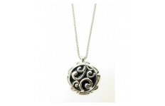 Black Koru Filigree Necklace By Hint of New Zealand