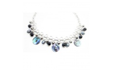 Paua and Pearl Ring Necklace By Hint of New Zealand
