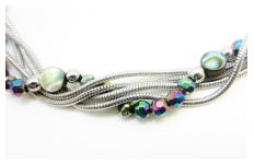 Paua Bead Twist Necklace By Hint of New Zealand