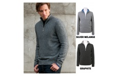 Half zip sweater stripe main picture
